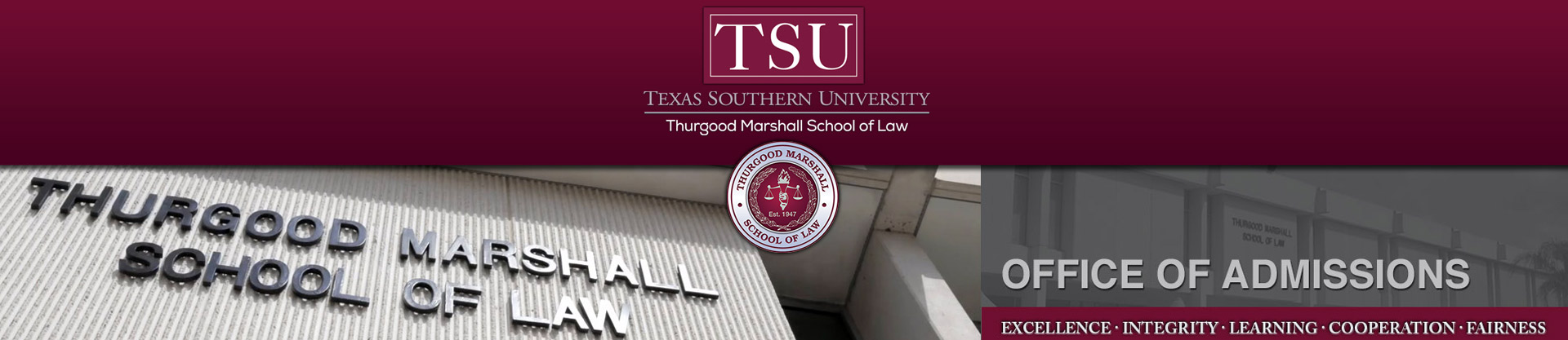 office of admissions thurgood marshall school of law dannnye k holley dean and professor of law
