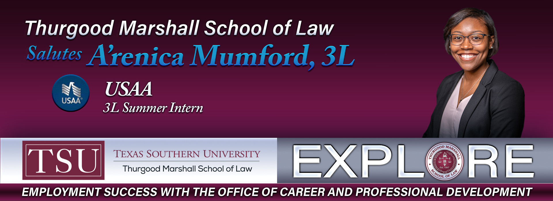 Welcome to Thurgood Marshall School of Law in Houston, Texas